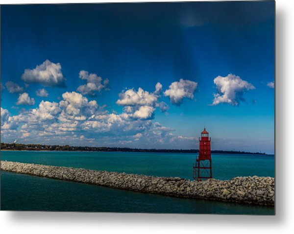 Racine Harbor Lighthouse Metal Print
