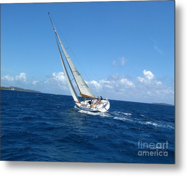 Racing At St. Thomas 2 Metal Print
