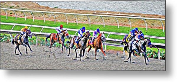 Racing Horses Metal Print