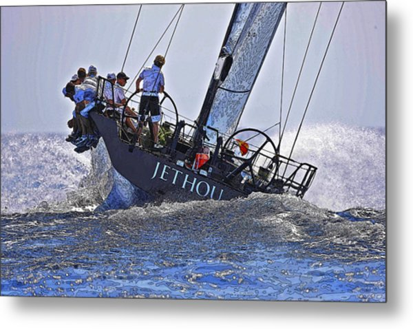Racing Yacht Metal Print