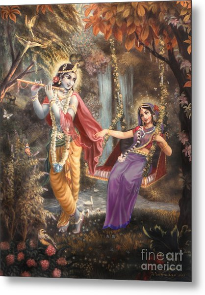 Radha's Swing Metal Print