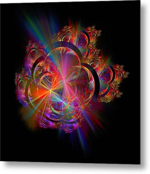 Radiant Rings Metal Print