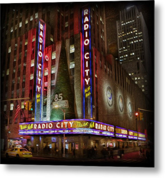 Radio City Christmas In December Metal Print by Lee Dos Santos