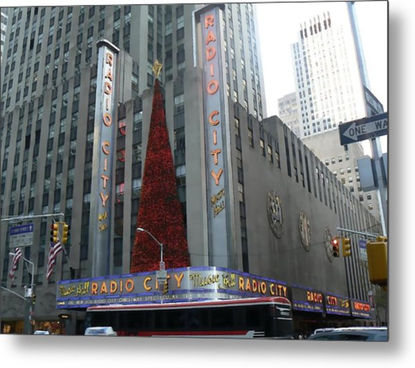 Radio City Christmas Metal Print