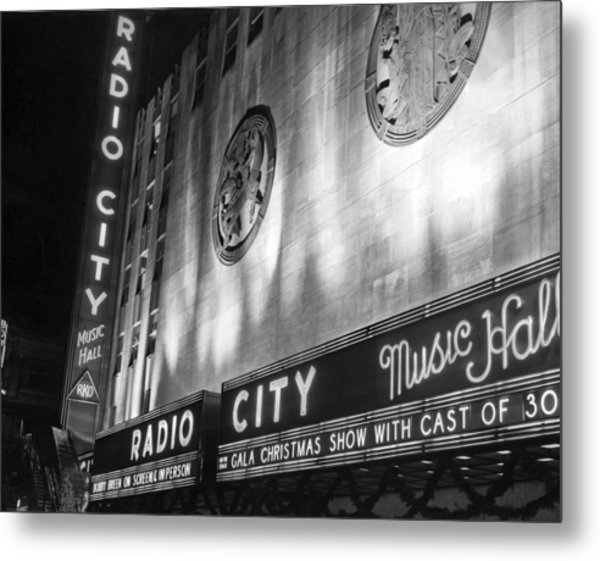 Radio City Music Hall Marquee Metal Print