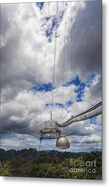 Radio Telescope At Arecibo Observatory In Puerto Rico Metal Print