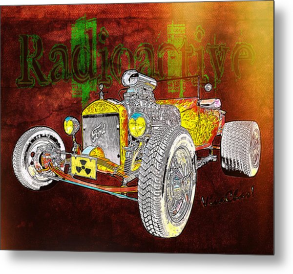 Radioactive Rod Metal Print