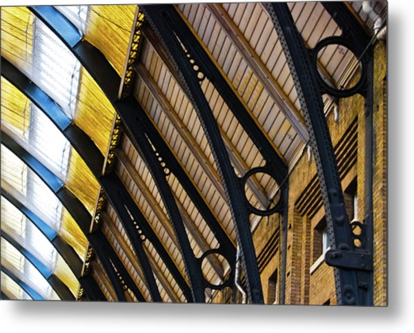 Rafters At London Kings Cross Metal Print
