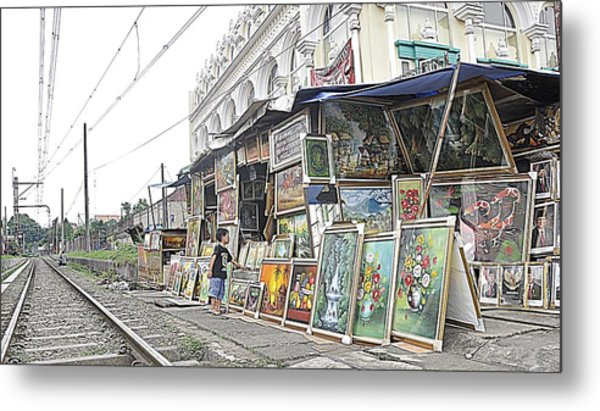 Rail Child And Painting Metal Print by Achmad Bachtiar