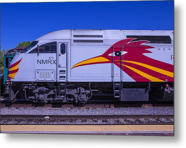 Rail Runner Train Metal Print