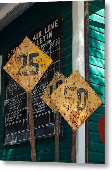 Rail Signs Metal Print