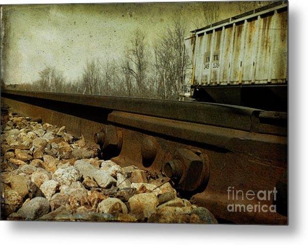 Railroad Bolts Metal Print