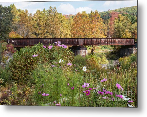 Railroad Bridge Metal Print