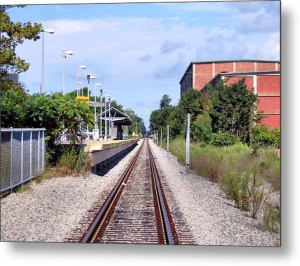 Railroad Depot At Cordage Park Metal Print by Janice Drew