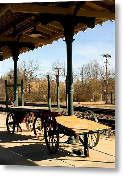 Railroad Wagons Metal Print by Denise Beverly