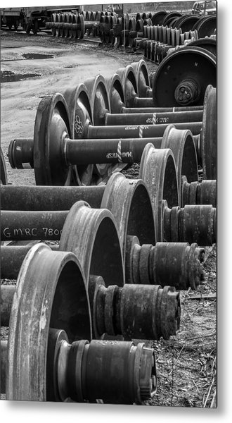 Railroad Wheels Metal Print