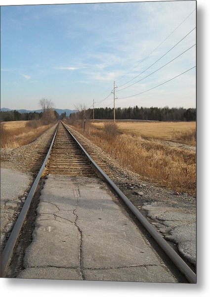 Rails And Lines Metal Print