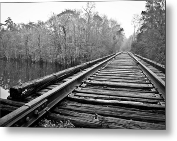 Rails Over Water Metal Print