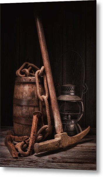 Railway Still Life Metal Print