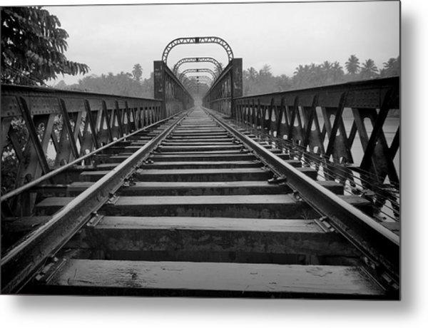 Railway Tracks Metal Print by Sanjeewa Marasinghe