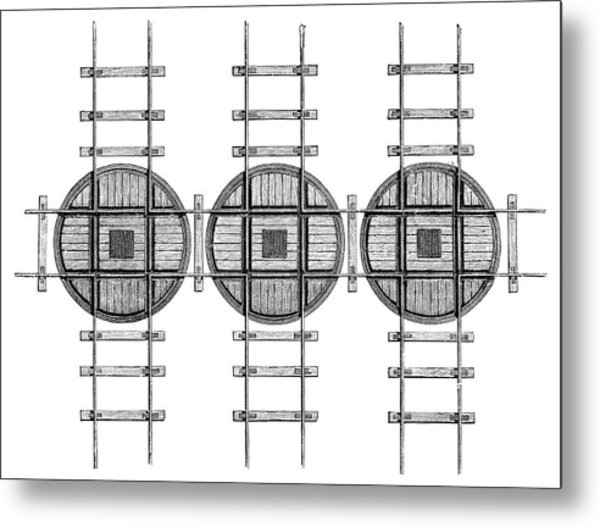 Railway Turntables Metal Print by Science Photo Library