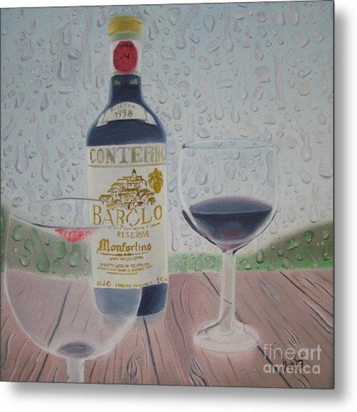 Rain And Wine Metal Print by Angela Melendez