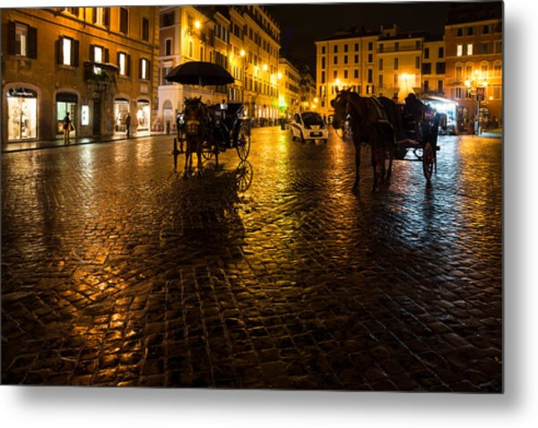 Rain Chased The Tourists Away... Metal Print