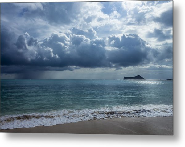 Rain Clouds At Waimanalo Metal Print