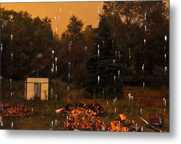 Rain In The Adirondacks Metal Print