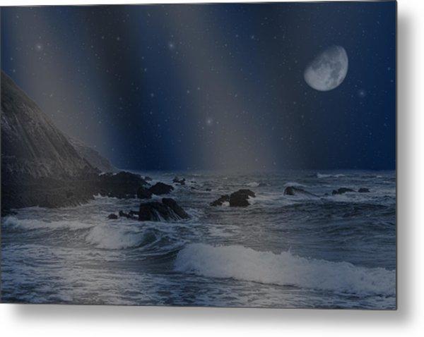 Rain Of Stars On The Sea  Metal Print