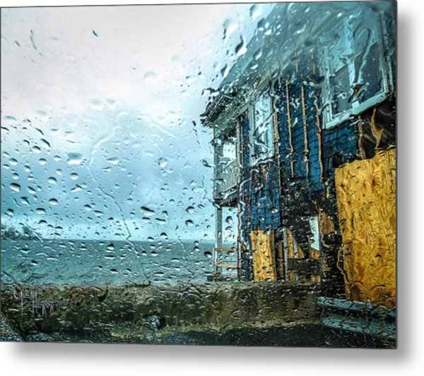 Rain On Rowing Club House Metal Print