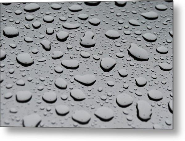 Rain On Sunroof Metal Print