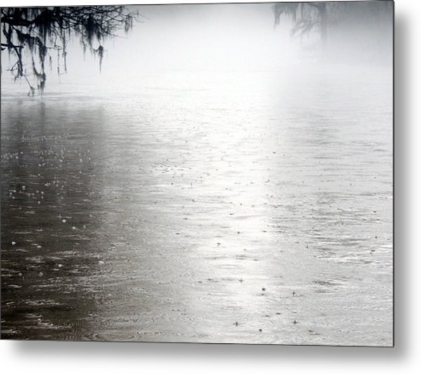 Rain On The Flint Metal Print