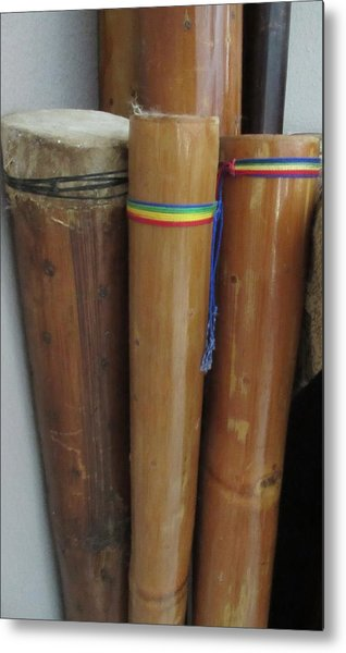 Rain Sticks Metal Print