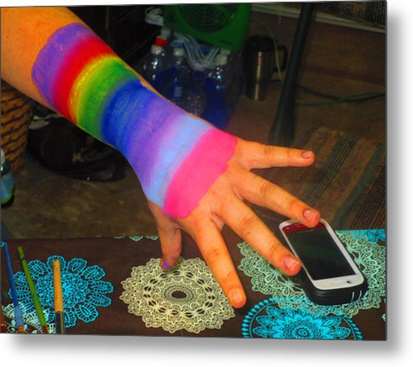 Rainbow Arm Metal Print