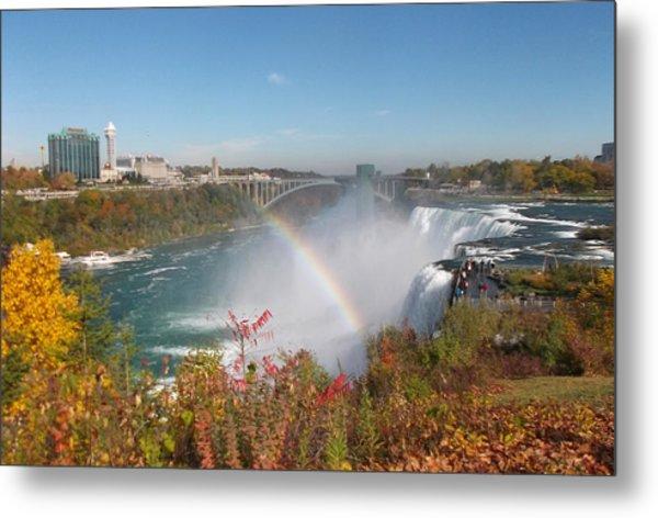 Rainbow At The American Falls Metal Print