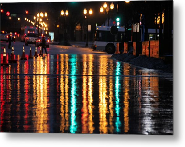 Rainbow Ave Metal Print