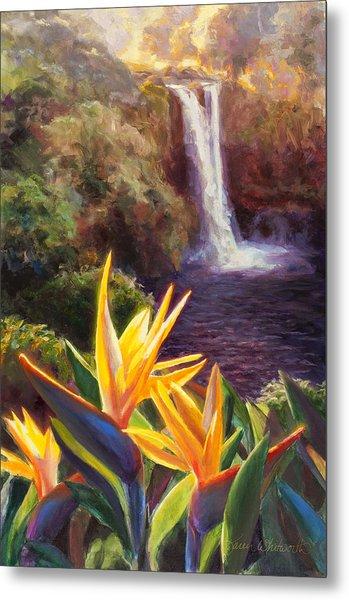 Rainbow Falls Big Island Hawaii Waterfall  Metal Print