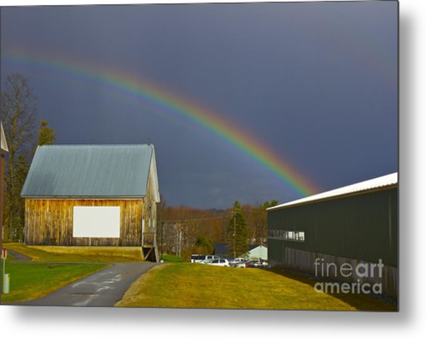 Rainbow In Maine Metal Print