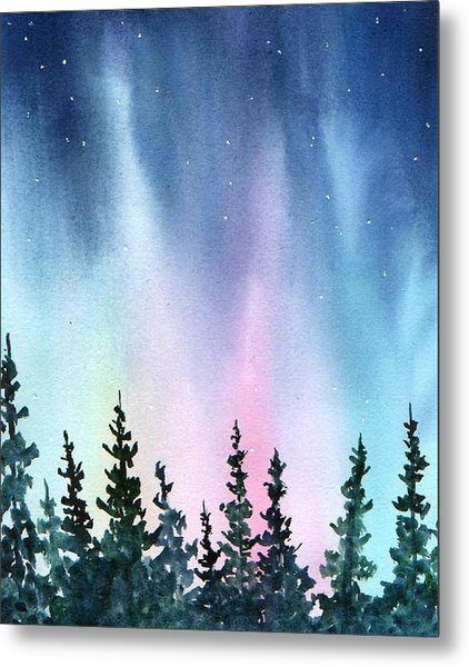 Rainbow Night Metal Print