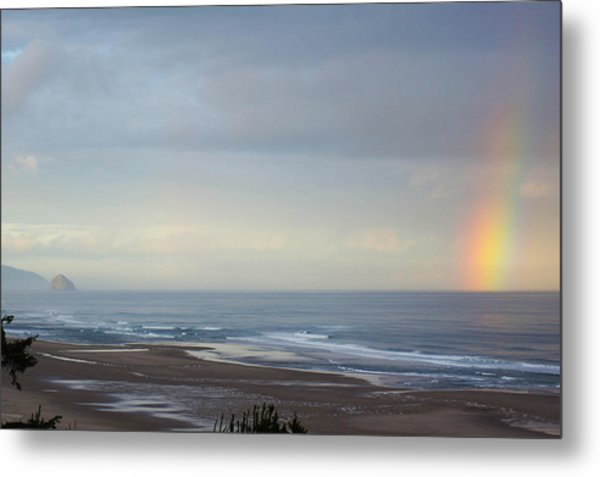 Rainbow On My Beautiful Beach Metal Print