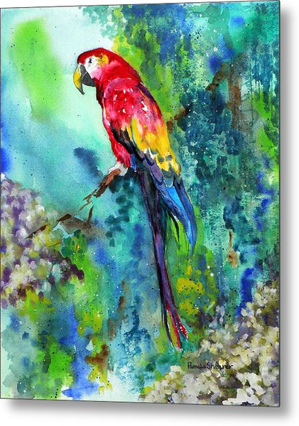 Rainbow On The Fly Metal Print