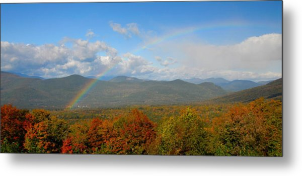 Rainbow Over Bartlett Nh Metal Print by Ken Stampfer