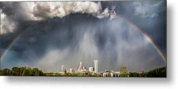 Rainbow Over Charlotte Metal Print