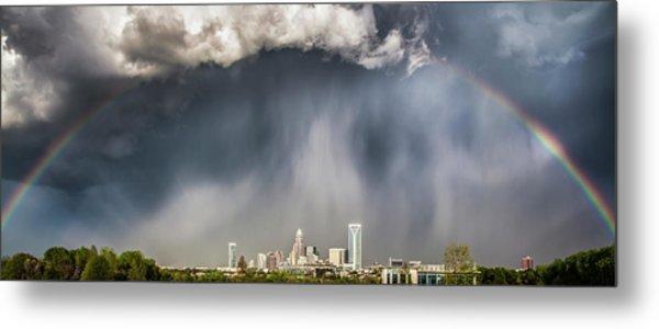 Rainbow Over Charlotte Metal Print