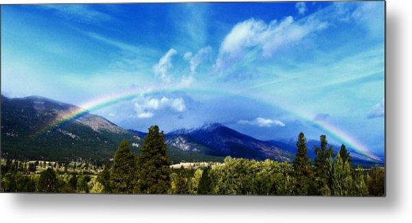 Rainbow Over Hamilton Montana Metal Print
