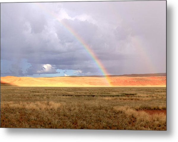 Rainbow Over Sossulvei Metal Print