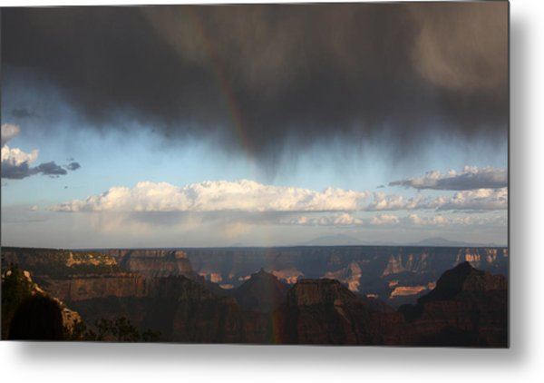 Rainbow Over The Grand Canyon Metal Print
