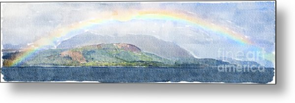 Rainbow Over The Isle Of Arran Metal Print