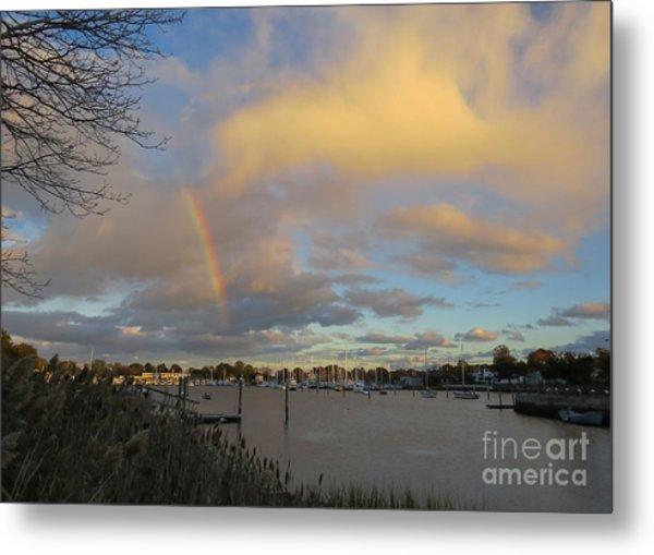Rainbow Over Wickford Metal Print